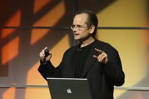 Lawrence Lessig ved ETech 2008. Fotografi af: Eschipul, Flickr.